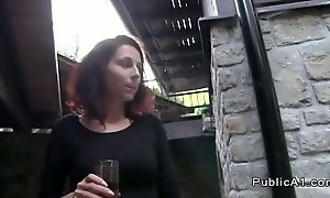 Tourist fucks amateur outdoor small cottage